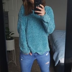 Joseph A. | Chenille Sweater in Turquoise